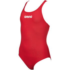 arena Solid Lighttech One Piece Badeanzug Mädchen red/white